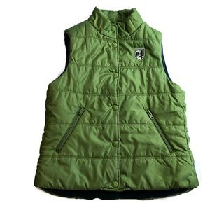 American Eagle Green Puffer Vest size S
